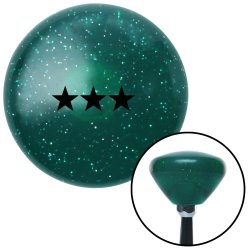 Black Vice Admiral Green Retro Metal Flake Shift Knob with M16 x 1.5 Insert - Part Number: ASCSNX1531170