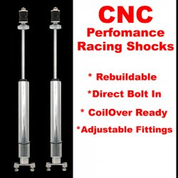 1971 - 1973 Ford Mustang And Cougar Front Performance Shocks - Pair  - Part Number: HEX9BDF46