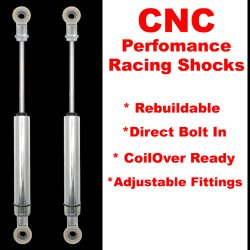 1961 - 1964 Ford F-Series Pickup Rear Performance Shocks - Pair  - Part Number: HEX9BDFC7