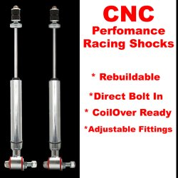 1962 - 1967 Chevrolet Nova Chevy II Rear Performance Shocks - Pair - Part Number: HEX9BDFDE