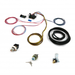 12 Fuse Basic Compact Wire Harness System with Switch Kit - Part Number: KICPROCOMP12BD