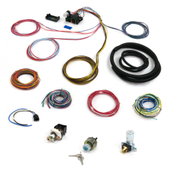 12 Fuse 103 Terminal Deluxe Compact Wire Harness System with Switch Kit - Part Number: KICPROCOMP12D