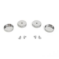 Stainless Steel Ball Joint Covers (Set of 4) - Part Number: HEXBJC