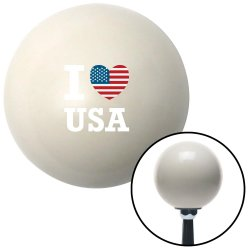 I Heart USA White Shift Knobs - Part Number: 10262862