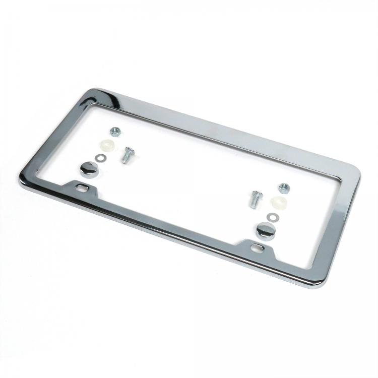 Chrome billet aluminum lighted license plate frame light street rod Chevy Ford