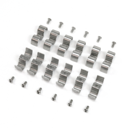 5/16 and 3/8 Stainless Steel Combo Line Clamps - Pack of 12 - Part Number: HEXLC1313375