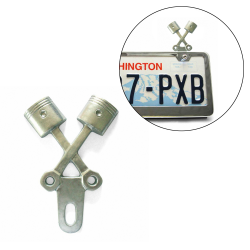 Cross Piston License Plate Topper - Part Number: VPALPT002