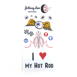 Johnny Law Motors Hot Rod Series Sticker Pack - Part Number: JLMSTK003