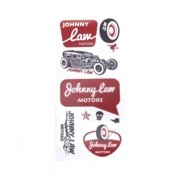Johnny Law Motors Sticker Pack - Part Number: JLMSTK004