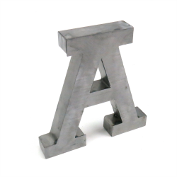 """A"" Metal Letter - Part Number: VPALSARA"