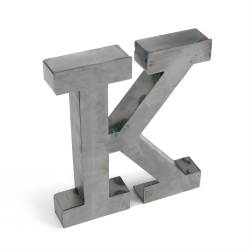 """K"" Metal Letter - Part Number: VPALSARK"