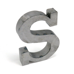 """S"" Metal Letter - Part Number: VPALSARS"