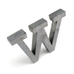 """W"" Metal Letter - Part Number: VPALSARW"
