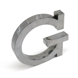 """G"" Metal Letter - Part Number: VPALSARG"