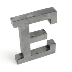 """E"" Metal Letter - Part Number: VPALSARE"