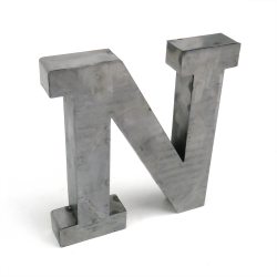 """N"" Metal Letter - Part Number: VPALSARN"