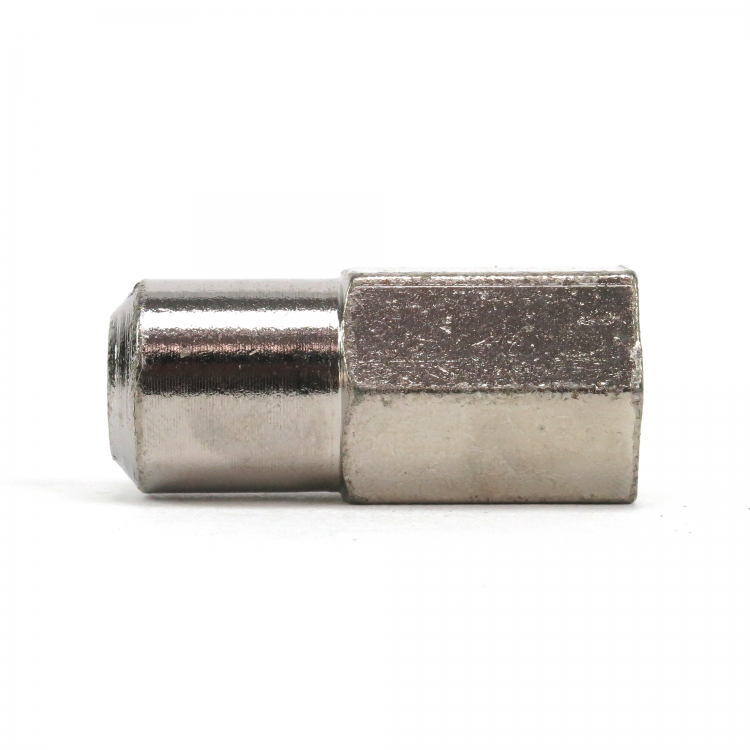 """Chrome Spindle Turn Stop Nuts PAIR Hex Cap 7//16th 20-1.5/"""" Head hot rods"""