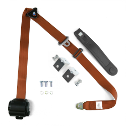 3pt Copper Retractable Seat Belt With Mounting Brackets - Standard Buckle  - Part Number: STBSB3RSCOHPK