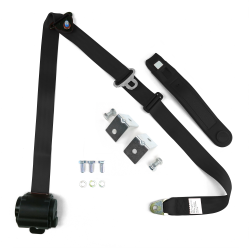 Retractable Front Shoulder Seat Belt Jeep CJ YJ Wrangler 82-95 3 Point - Part Number: STBSB3RSBKHPK8295JEEP