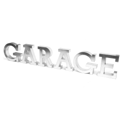 GARAGE Metal Letter Kit Sign - Part Number: VPALKAR4