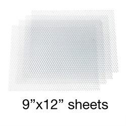 Aluminum Grill Mesh 9 inch x 12 inch - 4 Sheets - Part Number: AUTUGMAL2