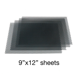 Black Grill Mesh 9 inch x 12 inch - 4 Sheets - Part Number: AUTUGMBK2