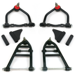 Mustang II Tubular Control Arm Set with Gussets - Part Number: HEXCAS002