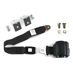 2 Pt Retractable Push Button Buckle Seat Belts With Anchor Hardware - Part Number: 10309353