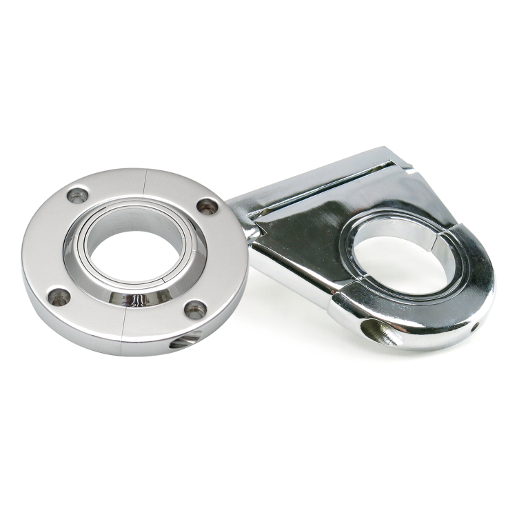 2-1//2 Steering Column Dash Drop Mount Chrome Aluminum 2 Diameter Column