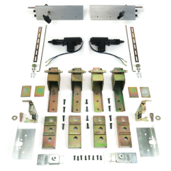 2 Door Individual Suicide Hidden Hinge System with Latches & Deadloc