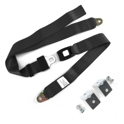2 Pt Push Button Buckle Seat Belts With Anchor Hardware - Part Number: 10309351
