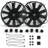 Two 9 Inch 835 fCFM Fans with Fan Ties - Part Number: ZIRZFB9DUAL