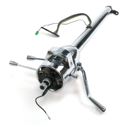 "33"" Chrome Steering Column Automatic with Gear Indicator Window and Shifter - Part Number: HEXSTCOL1"