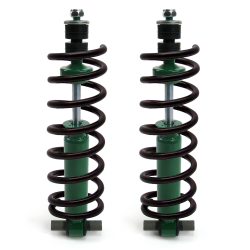 Mustang II 350 Lb Springs with Shocks and Hardware - Part Number: HEXSHX3SPR