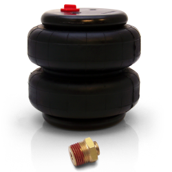 "Single 2500 Lb Air Bag with 3/8"" Push Tube x 1/2"" NPT Fitting - Part Number: HEXAB3812"
