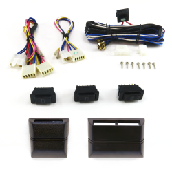 Power Window Switch Kit with Harness and Cases - Part Number: AUT33RSOCASE