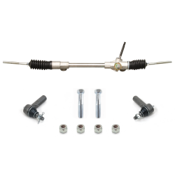 Mustang II Manual Steering Rack and Pinion with Tie Rod Ends and Hardware - Part Number: HEXSR2KIT