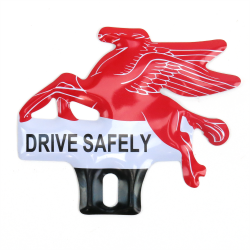 Mobil Flying Horse Pegasus License Plate Topper - Part Number: VPALPT008
