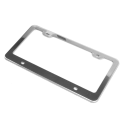 Bright Chrome License Plate Frame - Part Number: AUTFRAMEC1