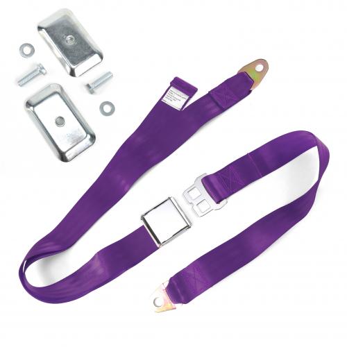 2pt Plum Airplane Buckle Lap Seat Belt w/ Flat Plate Hardware instructions, warranty, rebate