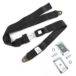 2 Pt Push Button Buckle Seat Belts with Flat Anchor Hardware - Part Number: 10309917
