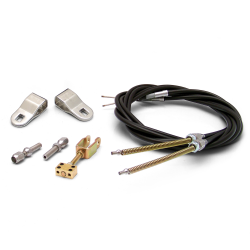 Emergency Hand Brake Cable Kit with Hardware and Chevy / GM Clevis' - Part Number: ASCBC003