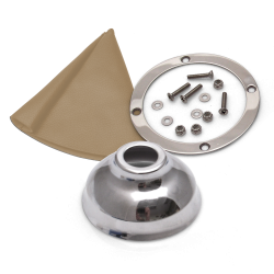 Vertical Shift or Emergency Brake Tan Boot, Silver Ring and Cap - Part Number: ASCSB101TNTR