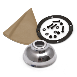 Vertical Shift or Emergency Brake Grey Boot, Black Ring and Cap - Part Number: ASCSB101TNTRBK