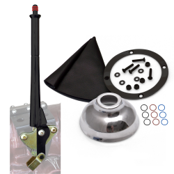 "11"" Black Transmission Mount E-Brake with Black Boot, Black Ring and Cap - Part Number: ASCBH11BKBB"