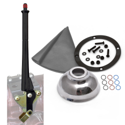 "11"" Black Transmission Mount E-Brake with Grey Boot, Black Ring and Cap - Part Number: ASCBH11BKBG"
