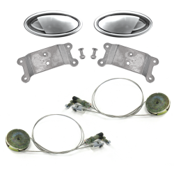 "Door Handle ""Cut Off"" Lever Kit with Cable and Pulley System (Pair) - Part Number: AUTBZDH2KPUL"