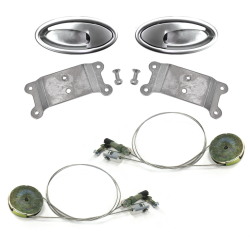 "Door Handle ""Swish"" Lever Kit with Cable and Pulley System (Pair) - Part Number: AUTBZDH3KPUL"