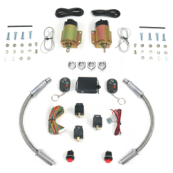 "4 Function 50 Lb Remote Shaved Door Kit with 18"" Loom - Part Number: AUTSVPRO54DL18"