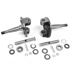 1928-1948 Ford Straight Axle Round Spindle with King Pin Kit Bushings Installed - Part Number: HEXSPIN7PK1